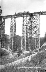 Northern Pacific Trestle, Evaro 1883